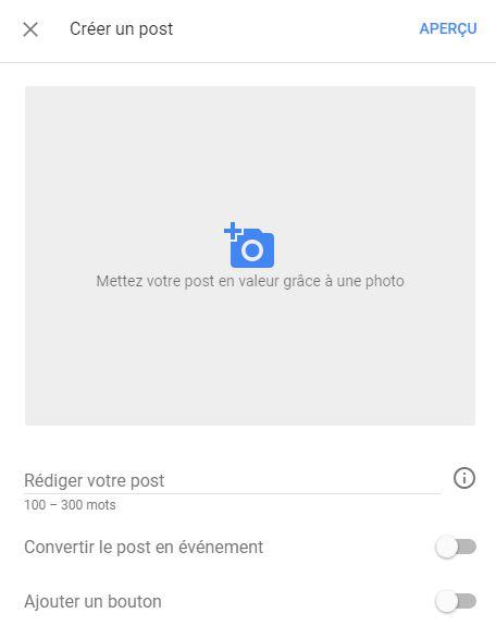 Éditeur Google Post