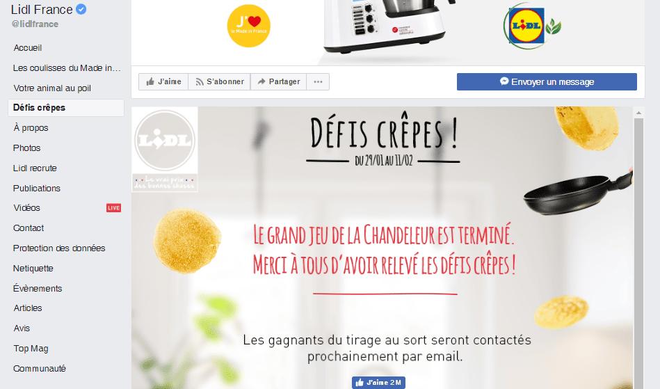 Facebook Lidl personnalisation poussée