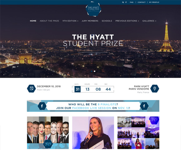 The Hyatt Student Prize Siteweb