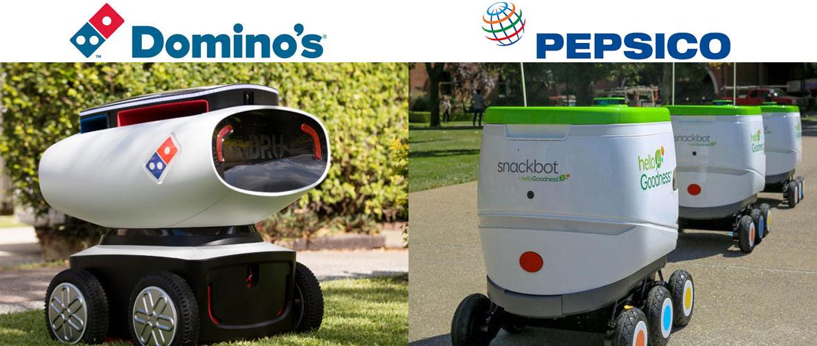 Pepsi & Domino's Pizza drones livreurs
