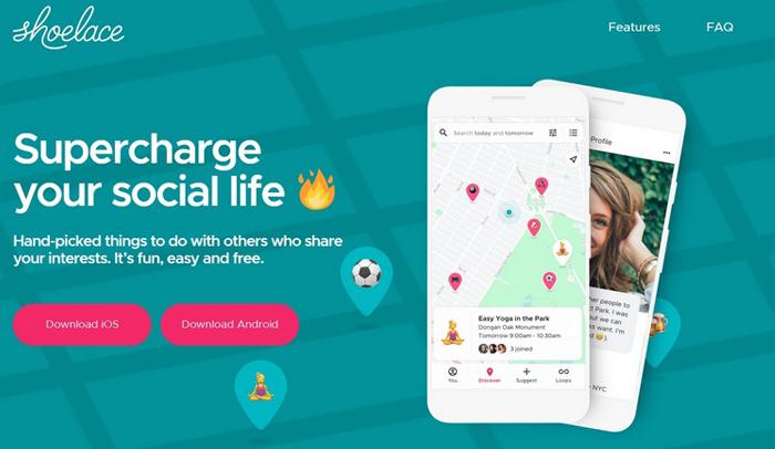 Shoelace : réseau social de proximité par Google